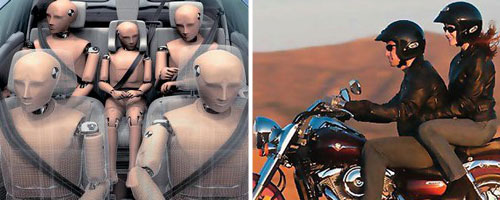 Тема 7. Нарушение правил применения ремней безопасности или мотошлемов.