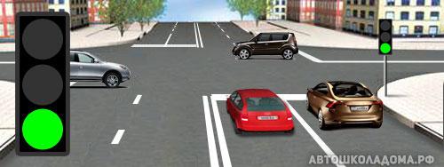 Знак движение направо и световор