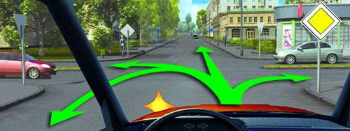 Расставить дорожные знаки на равнозначном перекрестке нагорный в